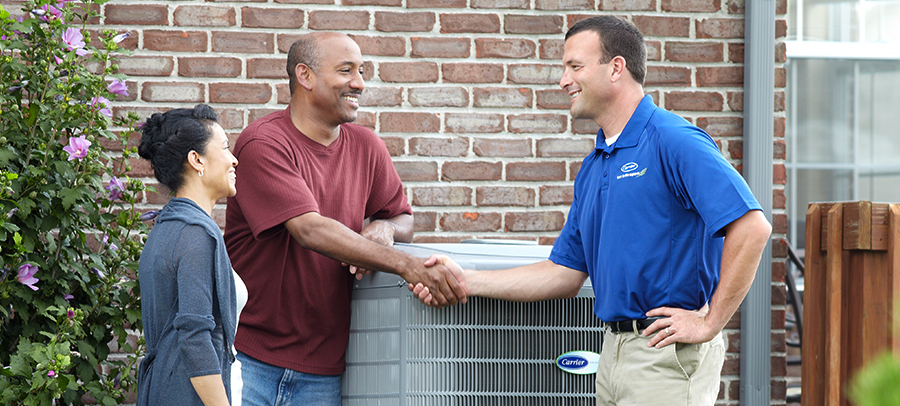 air conditioner maintenance service with homeowner